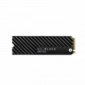 Image for product 'Western Digital WDS500G3XHC SN750 Black SSD w/ heatsink [500GB, M.2 NVMe, PCIe3x4, 3430/ 2600 MB/s]'