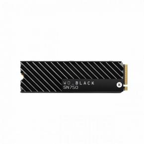 Image for product 'Western Digital WDS100T3XHC SN750 Black SSD w/ heatsink [1 TB, M.2 NVMe, PCIe3x4, 3430/ 3000 MB/s]'