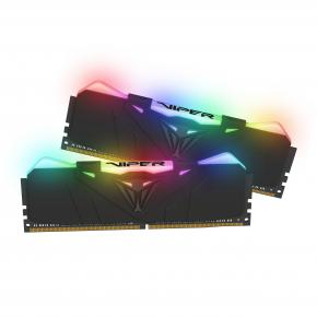 Image for product 'Patriot PVR432G320C6K Viper RGB DIMM DUAL KIT [32GB, DDR4, 3200MHz CL16, Black RGB, HS]'