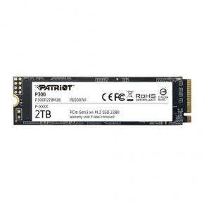 Image for product 'Patriot P300P2TBM28 P300 SSD [2TB, M.2 2280, PCIe 3x4, NAND, HMB Cache, 2100/1650 MB/s, 290K IOPS]'