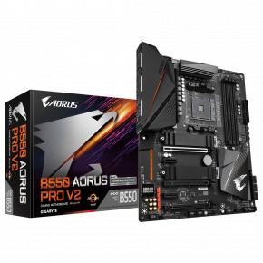 Image for product 'Gigabyte B550 AORUS PRO V2 [ATX, AMD Ryzen, AM4, 4x DDR4, 3200Mhz, M.2, 2.5 GBe]'