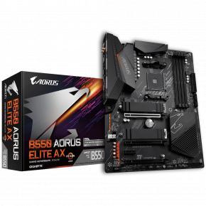 Image for product 'Gigabyte B550 AORUS ELITE A [ATX, AMD Ryzen, AM4, 4x DIMM, DDR4 3200 MHz, M.2, USB3.2, WIFi, TPM]'