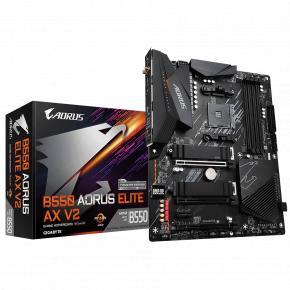 Image for product 'Gigabyte B550 AORUS ELITE AX V2 [ATX, AMD Ryzen, AM4, 4x DIMM, DDR4 4733 MHz, M.2, USB3.2, 2.5 Gbe]'