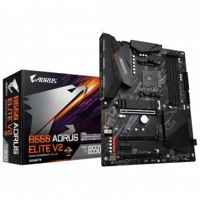 Image for product 'Gigabyte B550 AORUS ELITE V2 [ATX, AMD Ryzen, AM4, 4x DIMM, DDR4 3200 MHz, M.2, USB3.2, 2.5 Gbe]'