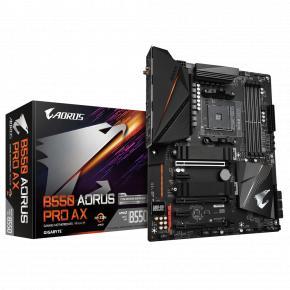 Image for product 'Gigabyte B550 AORUS PRO AX, ATX, AMD Ryzen, AM4, 4x DIMM, DDR4 3200 MHz, M.2, USB3.2, 2.5Gbe, WiF6i'