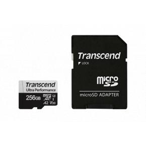 Image for product 'Transcend TS128GUSD340S 340S MicroSDXC w/ adapter [128 GB, UHS-I U3 A2, 3D NAND, 160/ 125 MB/s]'
