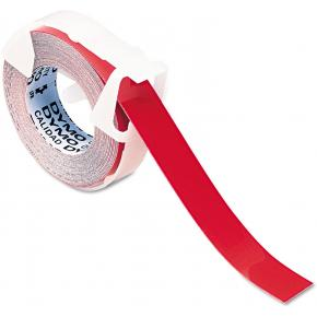 """Image for product 'Dymo 520102 Self-Adhesive Glossy embossing tape [9mm x 3m (3/8""""), plastic, red]'"""