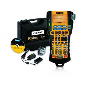 Image for product 'Dymo S0841390 RHINO 5200 Label Printer Kit [ABC, Thermal, 180 x 180 DPI, Li-Ion, Black/ Yellow]'