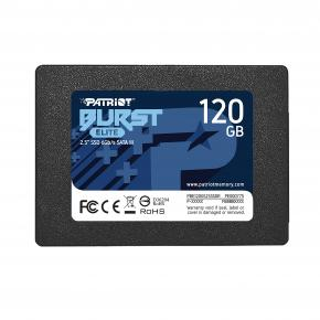 Image for product 'Patriot PBE120GS25SSDR BURST ELITE SSD [120GB, SATA3, 540 MB/s, Black]'