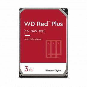 Image for product 'Western Digital WD30EFZX RED PLUS HDD [3TB, SATA3, 5400 RPM, 256 MB, 147 MB/s]'