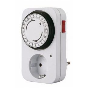 Image for product 'WOOX NS-OEM008 Timer klokstekker lang met schucko fitting'