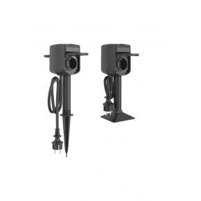 Image for product 'WOOX R6079 Slimme tweeweg buitencontactdoos, Zigbee WiFi, 2x Schuko, IP44, 3680W, 16A'