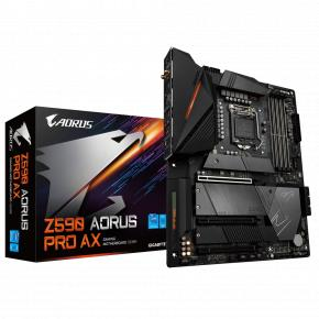 Image for product 'Gigabyte Z590 AORUS PRO AX ATX, Intel, LGA1200, 4x DIMM DDR4, 128 GB, M.2, USB 3.2, Wi-Fi 6'