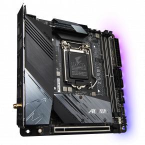 Image for product 'Gigabyte Z590I AORUS ULTRA Mini-ITX, Intel, LGA1200, 2x DIMM DDR4, 64 GB, M.2, USB 3.2, Wi-FI 6'