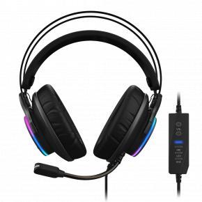 Image for product 'Gigabyte AORUS H1 USB Gaming Headset 20 - 20000Hz, 132 dB, 32 O, Head-band, 2.2 m, Black'