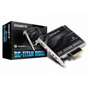 Image for product 'Gigabyte GC-TITAN RIDGE PCIe 3 Thunderbolt 3 Add-On (Mini-DisplayPort, Intel DSL7540, 40 Gbit/s'