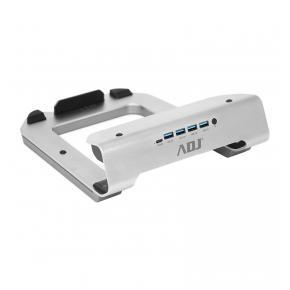 Image for product 'ADJ 130-00101 Laptop Stand 11-17 inch, 4 port USB 3.0, 1x USB-C, RGB, Alu'