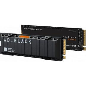 Image for product 'Western Digital WDS500G1XHE SN850 Black SSD w/ heatsink, 500GB, M.2 NVMe, 7000/ 4100 MB/s, TLC'