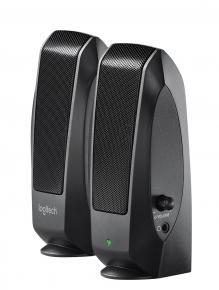 Image for product 'Logitech S-120 Black 2.0 Speakerset [2.0 CH, 2.3 W, 50 - 20000 Hz, 1.5m]'