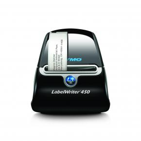 Image for product 'Dymo LabelWriter 450 [600 x 300 DPI, 51 lpm, Black,Silver, USB 2.0, Serial, 5.8 cm, Windows/ MAC]'