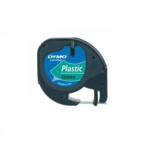 Image for product 'Dymo S0721640 91204 LetraTAG Plastic tape [12mm x 5.5m Vinyl  Green]'