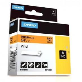 Image for product 'Dymo S0718500 18436 RhinoPRO Perm vinyl [19mm 5.5m Black/Orange]'