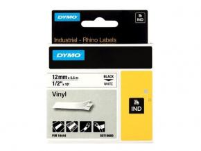 Image for product 'Dymo S0718600 18444 RhinoPRO Perm vinyl [12mm 5.5m Black/White]'