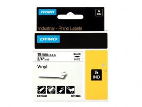 Image for product 'Dymo S0718620 18445 RhinoPRO Perm vinyl [19mm 5.5m Black/White]'