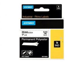 Image for product 'Dymo S0773830 1734523 RhinoPRO Permanent polyester tape [24mm 5.5m White]'