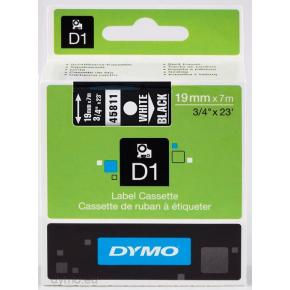 Image for product 'Dymo S0720910 D1 Standard Tape [19mm 7m D1-tape Adhesive White-Black]'