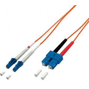 Image for product 'Equip 254316 LC/SC Fibre-Optic Patch-cable [M/M, Multi-Mode, LSOH, 10m, Orange]'