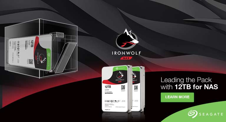 Seagate IronWolf HDD banner